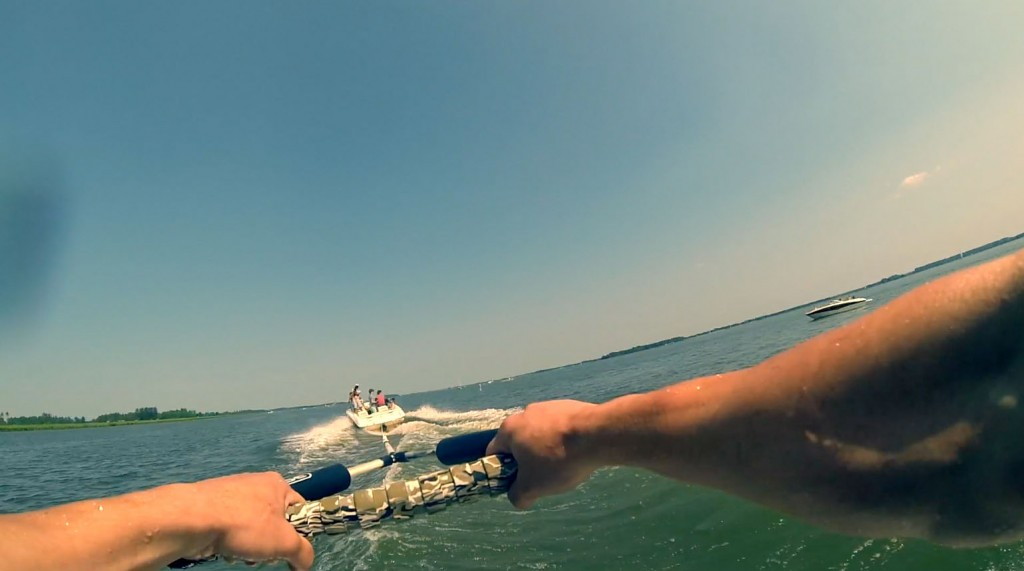 first person wakeboarden
